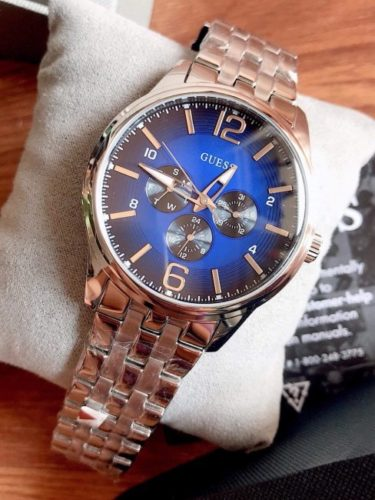 Dong ho Guess nam sport blue 43mm