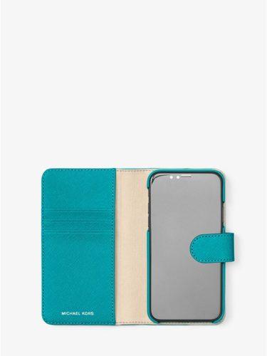 Ví điện thoại Michael Kors màu xanh lam cho iPhone X