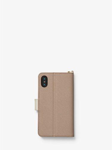 Ví điện thoại Michael Kors màu nâu cho iPhone X