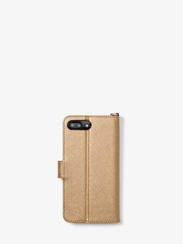 Ví điện thoại Michael Kors màu vàng nhạt cho iPhone 7/8