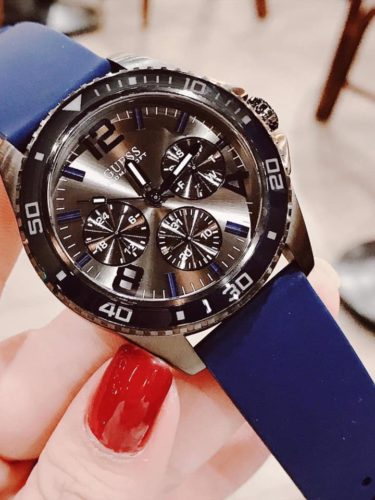 Guess silicon 42mm blue