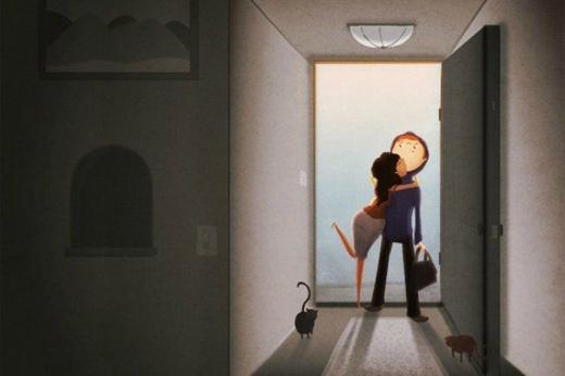 Chồng về nhà với vợ thay vì la cà