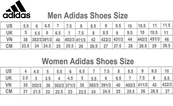 Cach chon size giay adidas